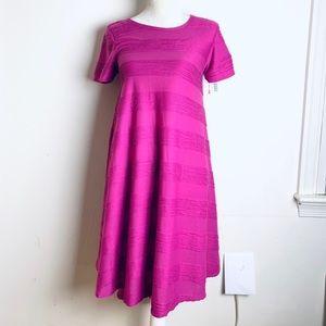Lularoe bubble gum pink Carly dress Xsmall new